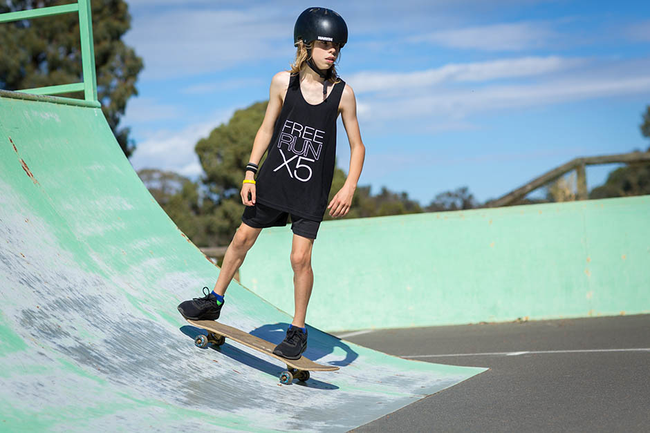 photo of kid on a skateboard by caro telfer, photographer