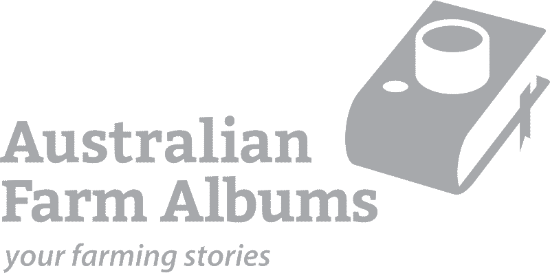 "Picture of the Australian Farm Albums logo with the words ""your farming stories"""