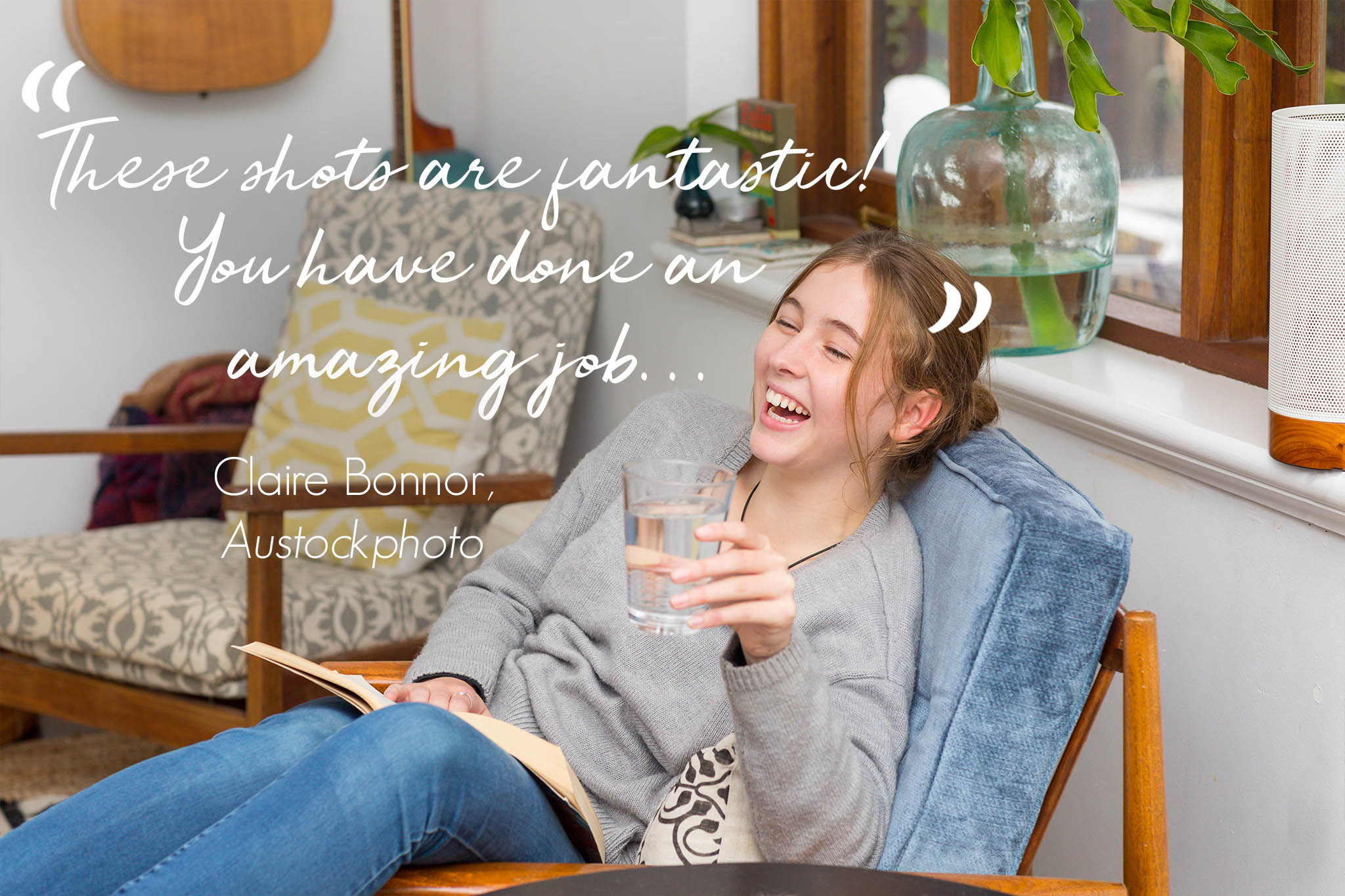 """Testimonial from Claire Bonnor, Austockphotography: """"These shots are fantastic! You have done an amazing job..."""""""