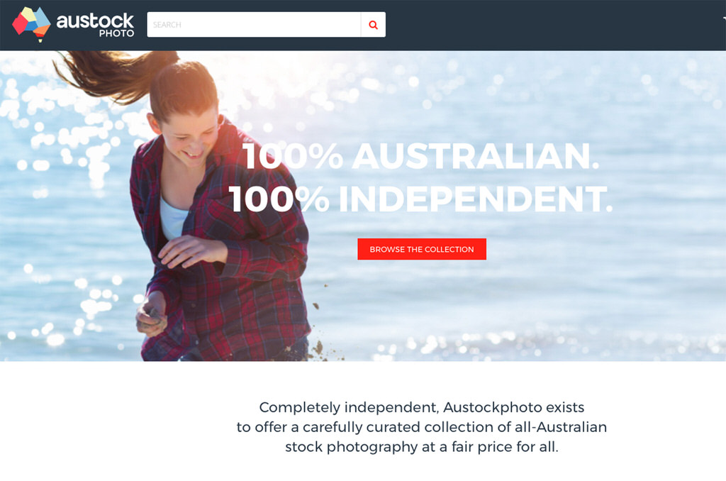 Austockphoto website showing photo by Caro Telfer on web banner
